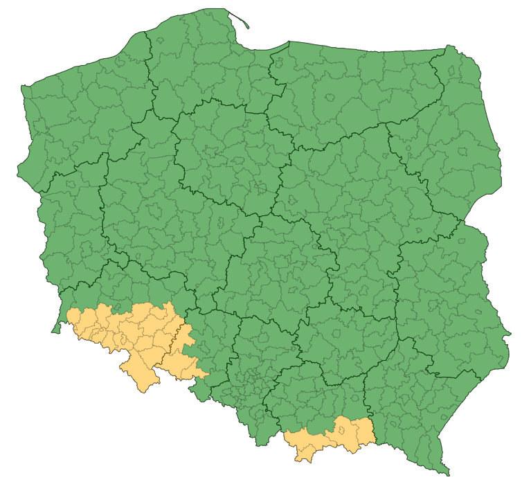 Ostrzeżenie IMGW przed intensywnymi deszczami dotyczy terenów na południu kraju (aktualizacja z godziny 09:01) /IMGW-PIB / pogodynka.pl /