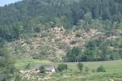 Osuwiska zniszczyły Kłodne koło Limanowej