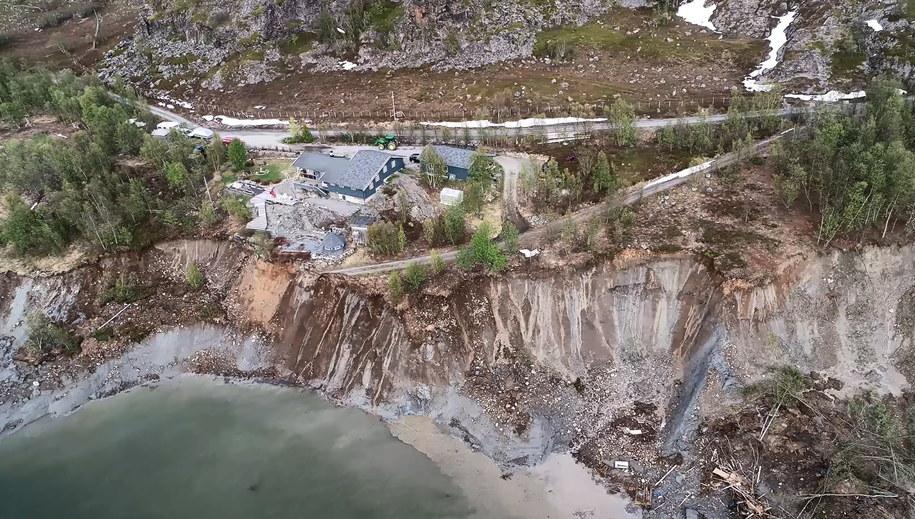 Osuwisko w Alta w Norwegii /Anders Bjordal / NVE /PAP/EPA