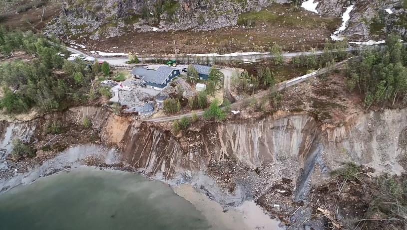 Osuwisko w Alta w Norwegii /Anders Bjordal /PAP/EPA