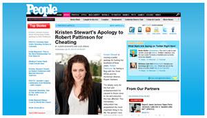 """Oświadczenie Kristen Stewart na stronie internetowej magazynu """"People"""" /  /teletydzien.pl"""