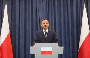 Oświadczenie prezydenta Andrzeja Dudy: Zawetuję ustawy o SN i KRS