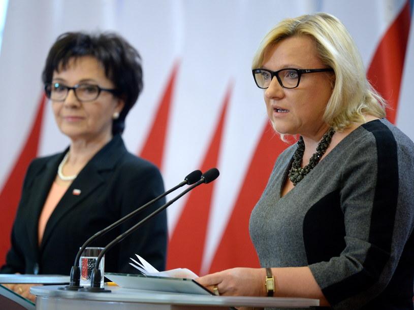 Oświadczenie szefowej KPRM i rzeczniczki rządu Elżbiety Witek ws. publikacji wyroku TK /Jacek Turczyk /PAP