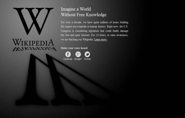 Oto, co 18 stycznia zobaczymy na anglojęzycznej wersji Wikipedii /INTERIA.PL