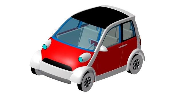Oto jedna z nadesłanych prac konkursowych na polski samochód elektryczny. Już po wstępnej selekcji /
