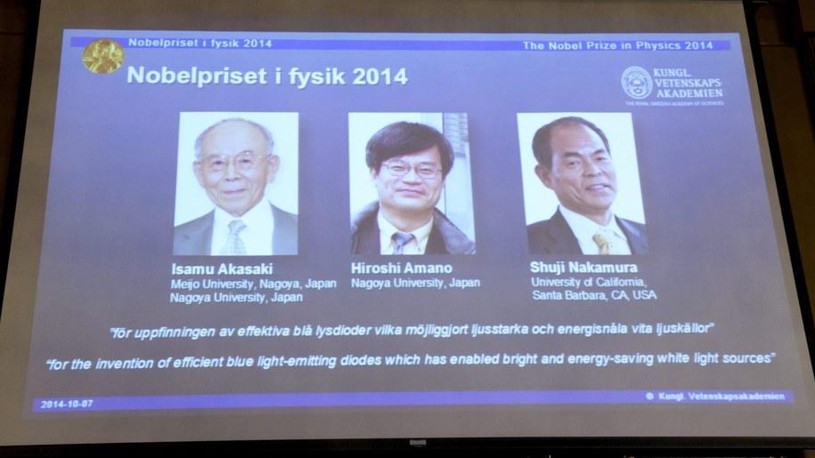 Oto laureaci Nobla z fizyki. Nobel 2014 /Bertil Ericson /PAP/EPA