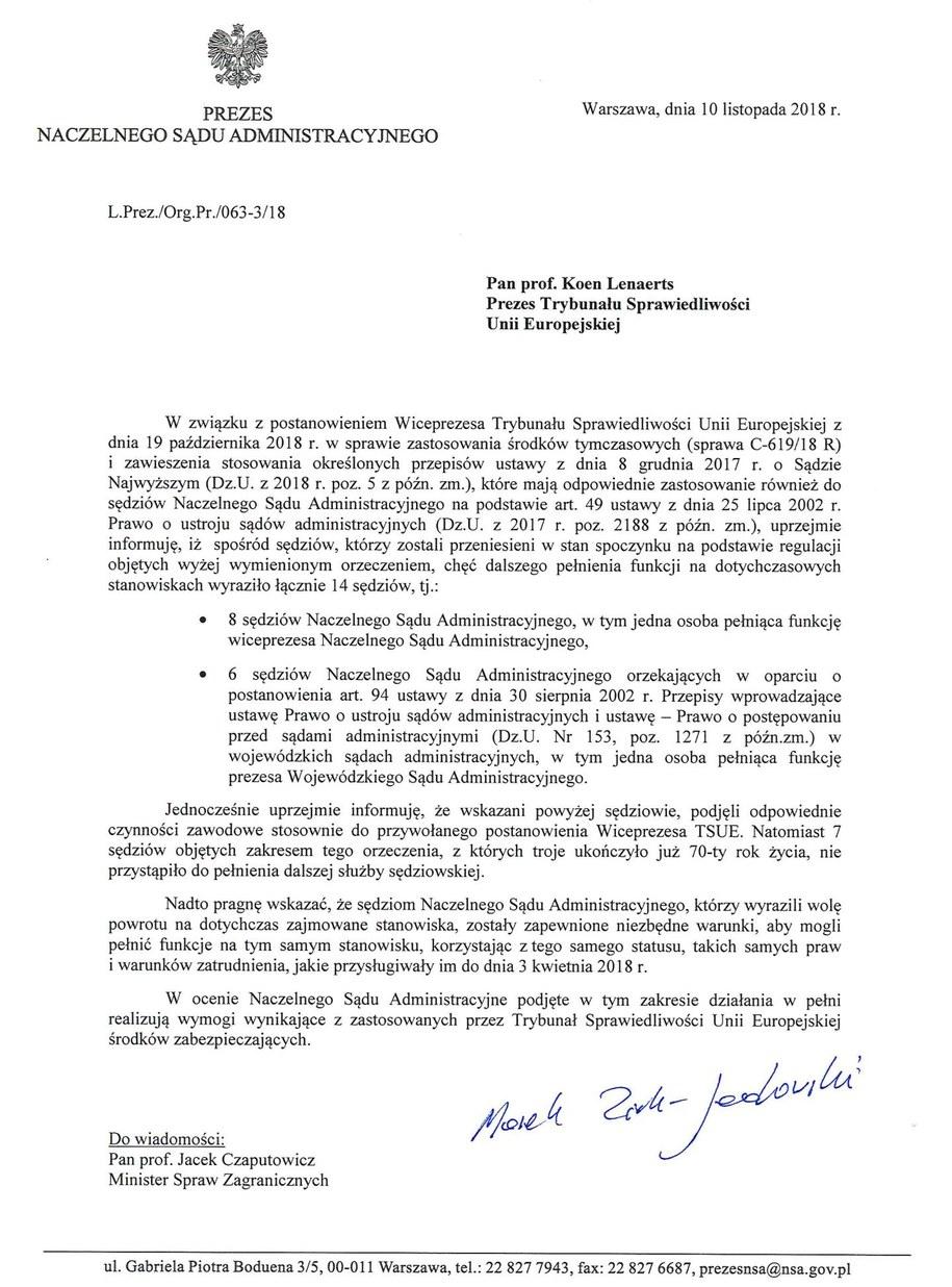 Oto pismo prezesa NSA do prezesa TSUE /NSA /