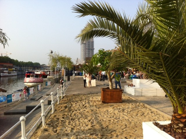 Oto plaża w sercu stolicy Belgii /Katarzyna szymańska- Borginion  /RMF FM
