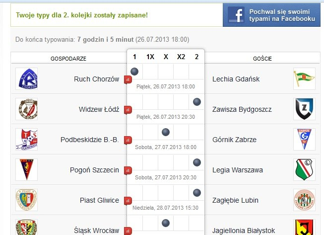 Oto typy na 2. kolejkę Grzegorza Mielcarskiego. /INTERIA.PL