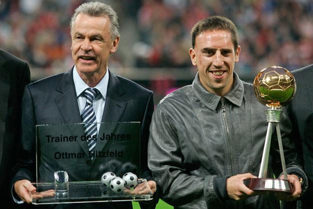 Ottmar Hitzfeld i Franck Ribery /AFP