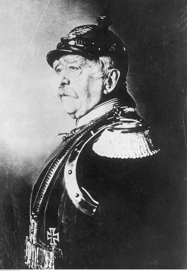 Otto von Bismarck, kanclerz Cesarstwa Niemieckiego - reprodukcja obrazu sprzed 1890 roku /Z archiwum Narodowego Archiwum Cyfrowego