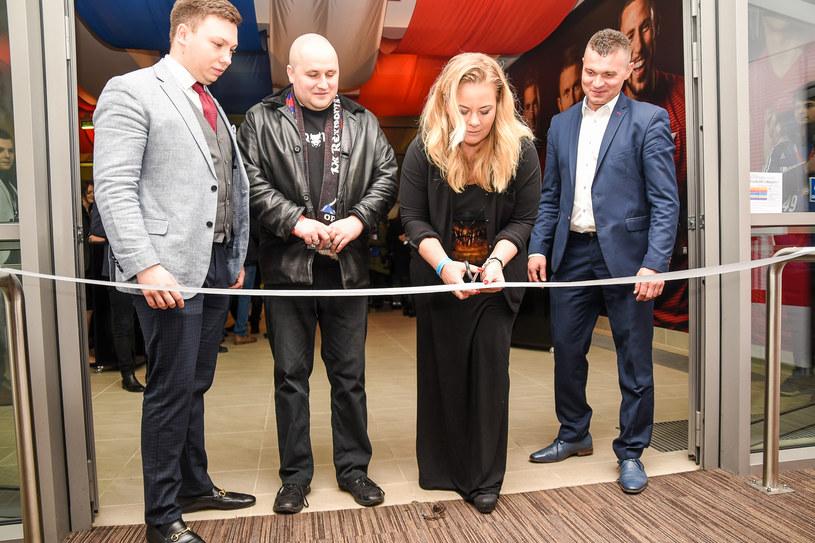 Otwarcia loży VIP Silver na stadionie Wisły dokonała Marzena Sarapata, prezes klubu /Adam Koprowski, Wisła Kraków /