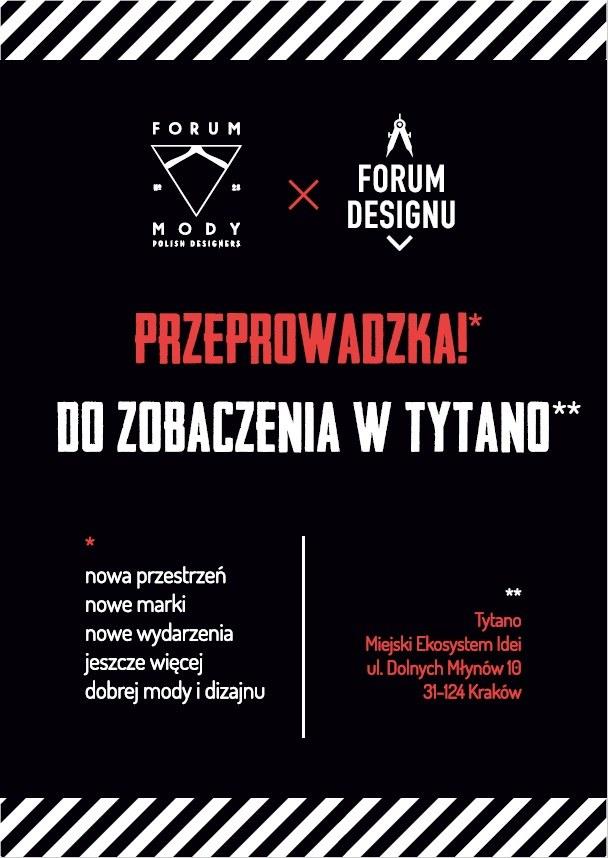 Otwarcie Forum Mody i Designu w Tytano 7 maja /materiały prasowe