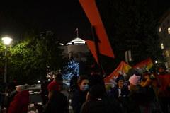 Otwarcie sezonu. Protest Strajku Kobiet w Warszawie