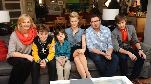Otylia Jędrzejczak (po lewej) wraz z rodzinką Boskich /Agencja W. Impact