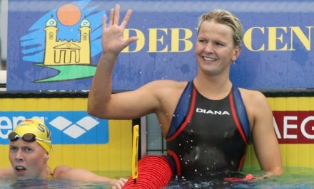 Otylia Jędrzejczak w tym roku wywalczyła dla Polski trzy złote medale mistrzostw Europy /AFP