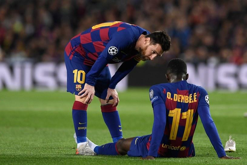 Ousmane Dembele doznał kolejnej kontuzji w środowym meczu z Borussią Dortmund /AFP