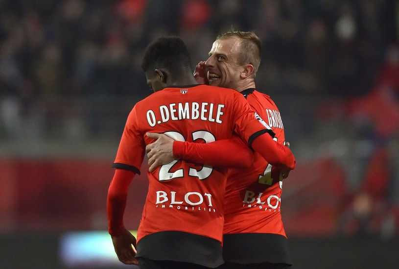 Ousmane Dembele i Kamil Grosicki to gwiazdy Rennes /AFP