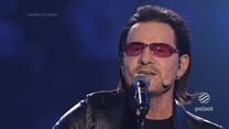 Owacje na stojąco dla Roberta Janowskiego za wykonanie piosenki Bono z U2!