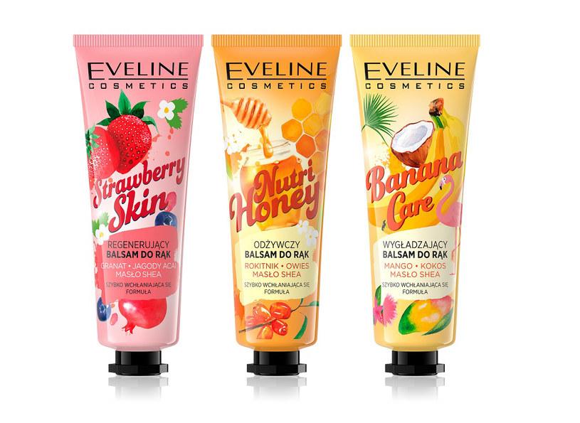 Owocowe balsamy do rąk Eveline Cosmetics /materiały prasowe