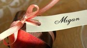 Owocowe winietki i dekoracje stołu weselnego