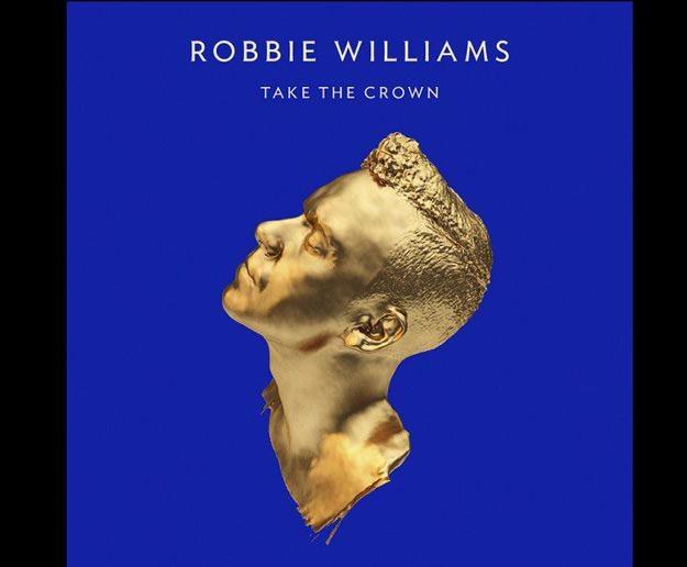 """Ozłocony Robbie Williams na okładce albumu """"Take The Crown"""" /"""