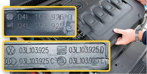 oznaczenia części /Motor