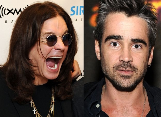 Ozzy Osbourne krzyczy, Colin Farrell niewzruszony - fot. Bryan Bedder / Frazer Harrison /Getty Images/Flash Press Media