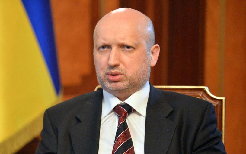 P. o. prezydenta Ukrainy Ołeksandr Turczynow. /AFP