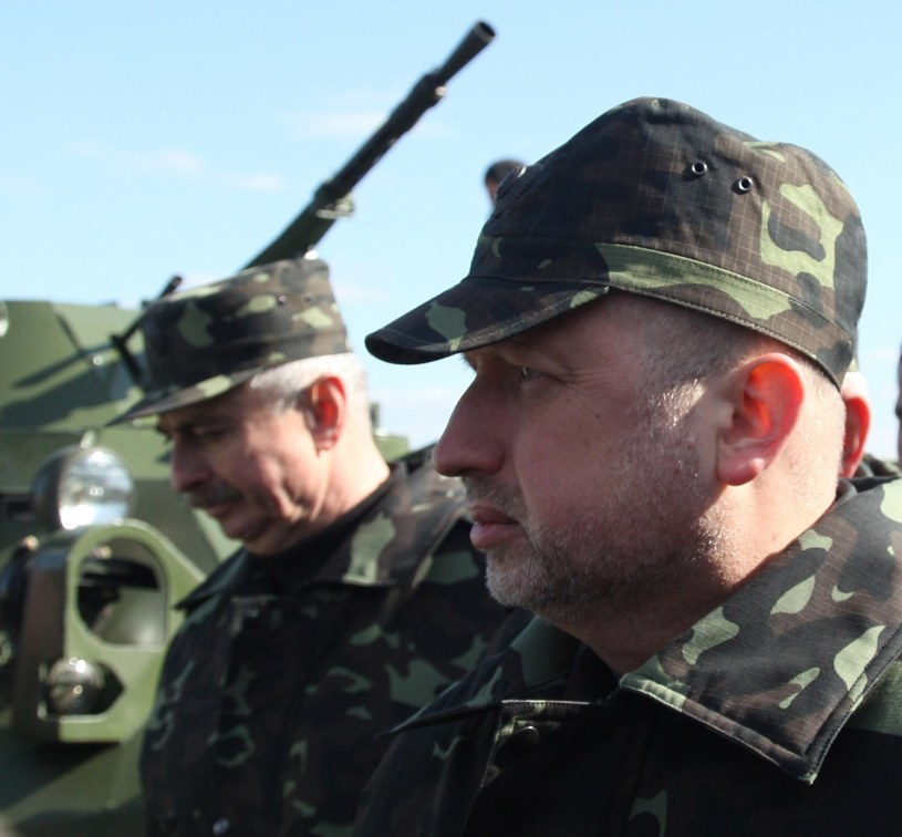 P.o. prezydenta Ukrainy Ołeksandr Turczynow /AFP