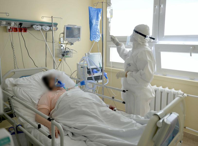 Pacjenci na oddziale covidowym Wojewódzkiego Szpitala w Przemyślu /Łukasz Solski /East News
