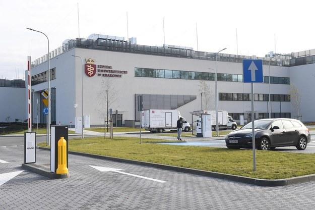 Pacjent trafił do Szpitala Uniwersyteckiego w Krakowie /Jacek Bednarczyk   /PAP