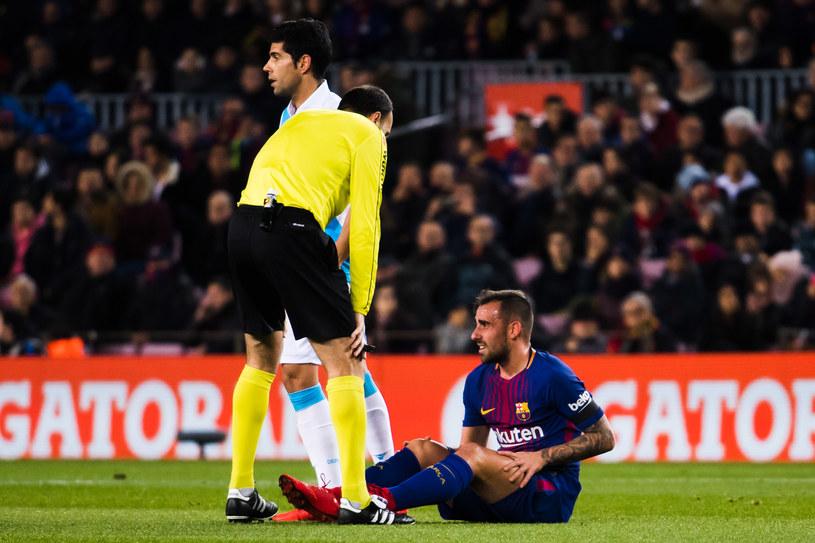 Paco Alcacer doznał kontuzji już w pierwszej połowie /Alex Caparros /Getty Images