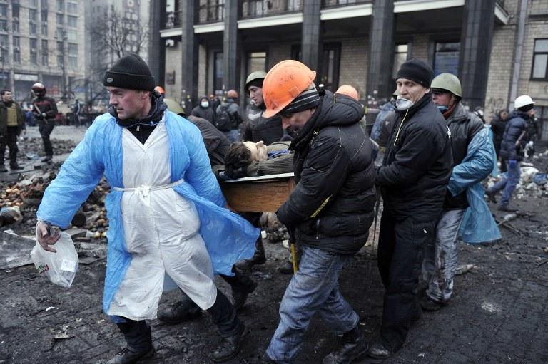 Pacyfikacja Majdanu /AFP
