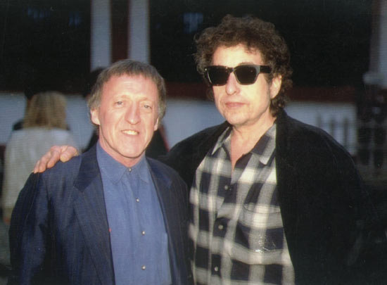 Paddy Moloney z Bobem Dylanem, który był jego wielkim fanem /Dean Parb /Flickr.com, CC BY 2.0