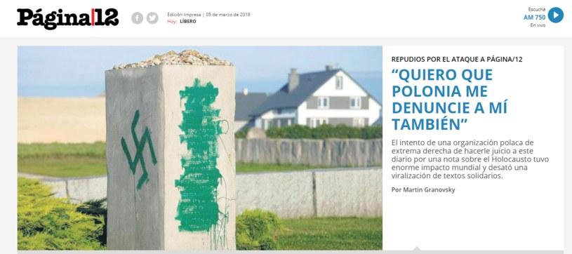 Pagina12 reaguje na pozew /www.pagina12.com.ar /