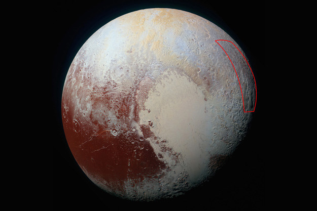 """""""Pajączek"""" widoczny jest na skraju wschodniej półkuli Plutona /NASA"""