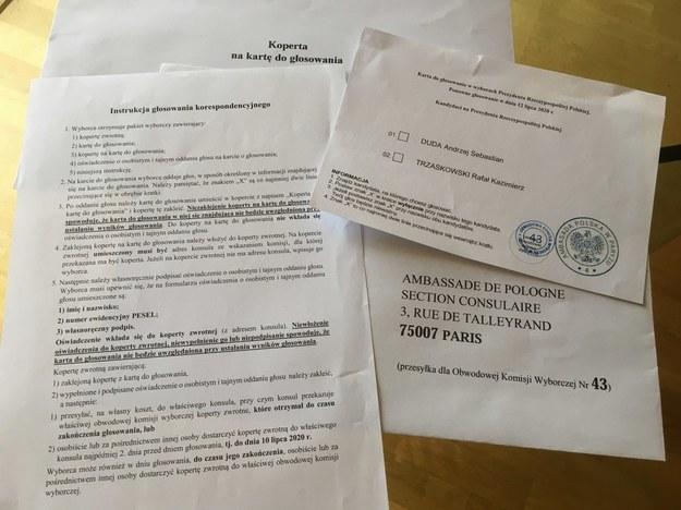 Pakiet wyborczy dla Polaków głosujących za granicą /Marek Gładysz /RMF FM