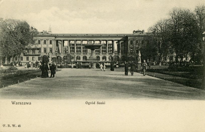 Pałac Saski, fot. z 1905 roku /zbiory Lecha Królikowskiego /East News