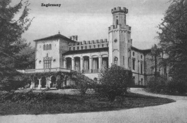 Pałac Skrzyńskich w Zagórzanach - przedruk kartki pocztowej z 1908 r. /INTERIA.PL
