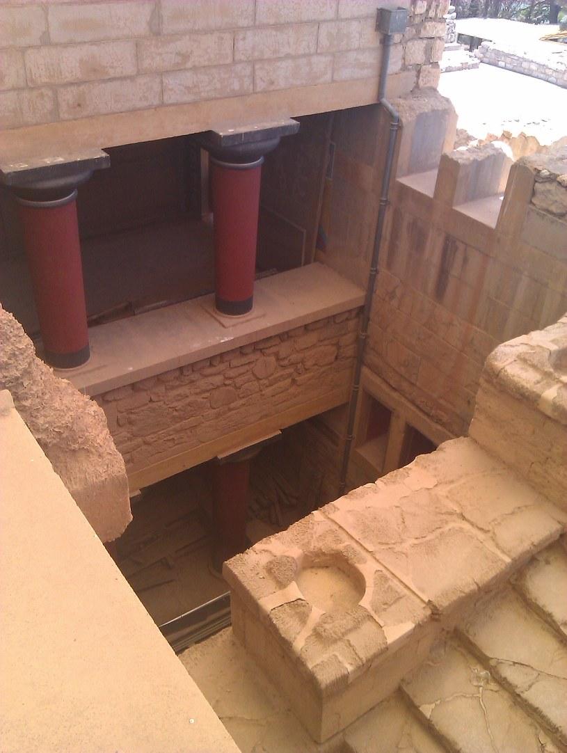 Pałac w Knossos - jeden z rekonstruowanych fragmentów. Fot: DJ /INTERIA.PL