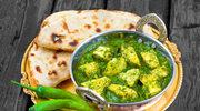 Palak paneer, czyli ser w sosie szpinakowym