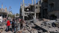 Palestyna: Zniszczone budynki po nalotach izraelskich