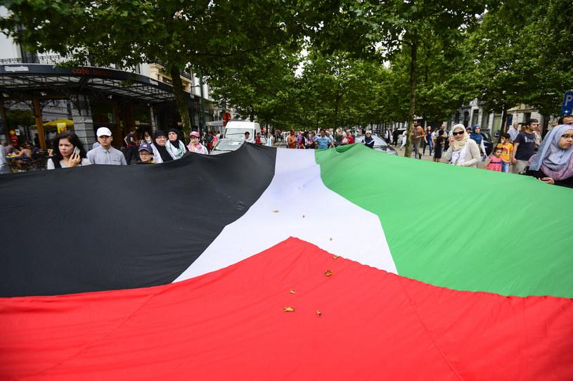 Palestyńska flaga /AFP