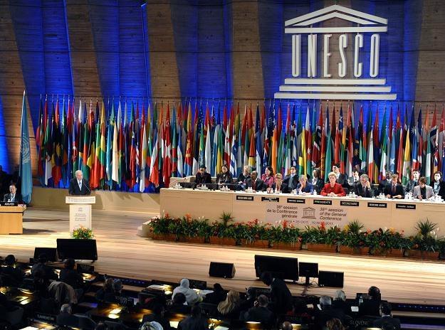 Palestyński premier przemawia w paryskiej siedzibie UNESCO /AFP