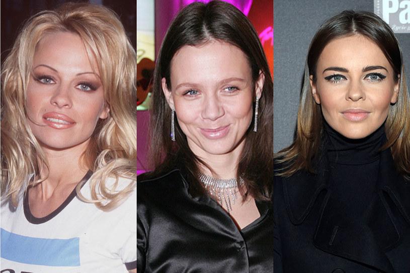 Pamela Anderson (1999), Kinga Rusni (2006), Edyta Herbuś (2014)/ fot. Getty Images, AKPA /Styl.pl