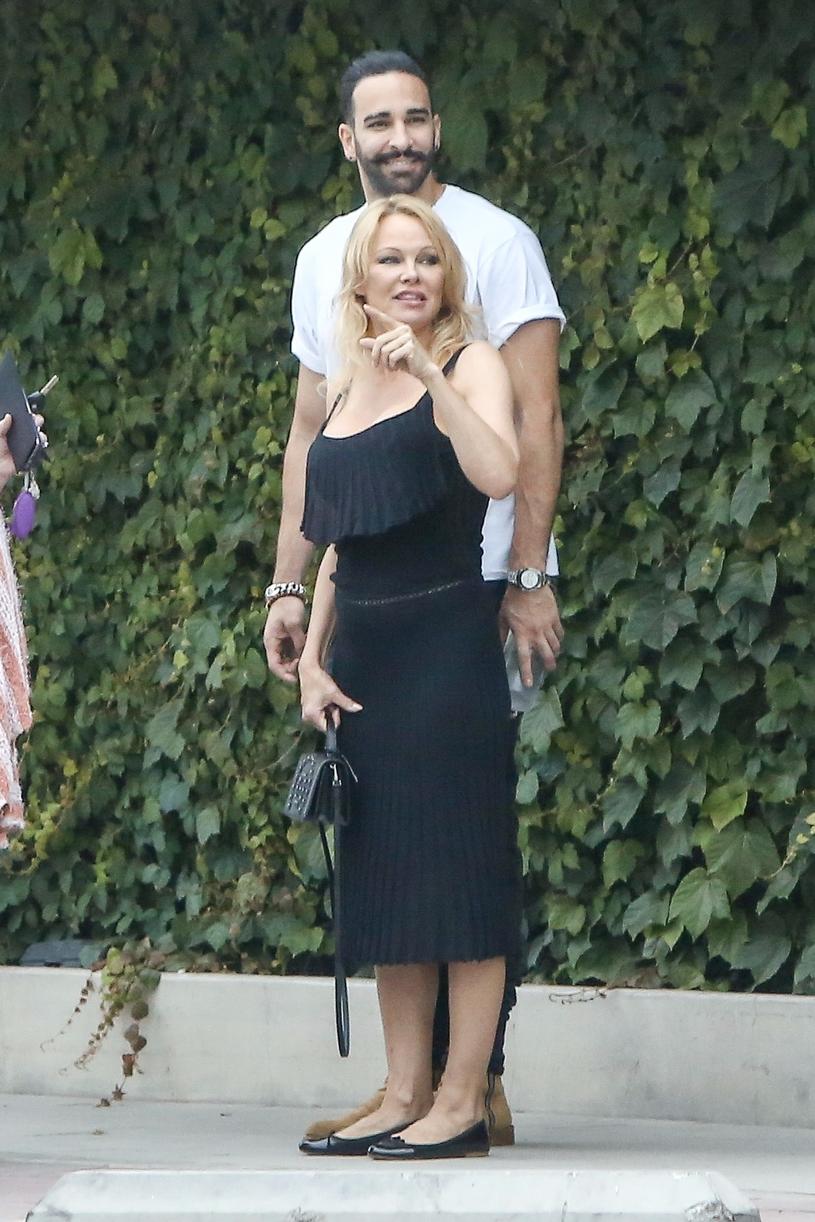 Pamela Anderson i Adil Rami /Agencja FORUM