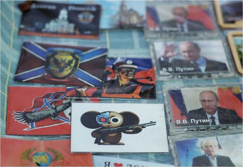 Pamiątki z Republiki: Putin i Czeburaszka z karabinem /Filip Faliński /Nowa Europa Wschodnia