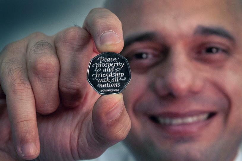 Pamiątkowa moneta z okazji brexitu /Her Majesty's Treasury HANDOUT /PAP/EPA