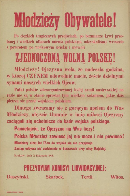 """""""Pamiętajcie, że Ojczyzna na was liczy"""" /Archiwum Akt Nowych"""